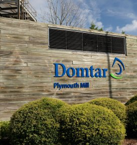 Domtar - Plyouth Mill sign