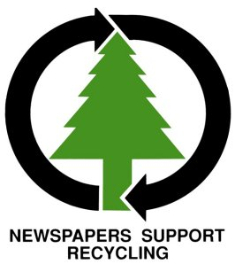 Newspapers Support Recycling logo