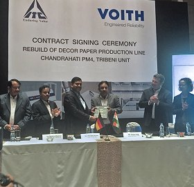 Voith paper machine contract with ITC Limited