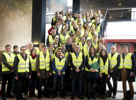 Group visit to Roermond paper mill