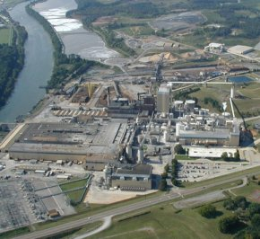 Resolute Forest Products pulp and paper mill in Calhoun, Tennessee