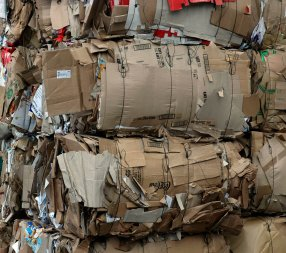 Bales of old corrugated containers (OCC)