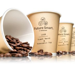 Huhtamaki Future Smart 100% renewable paper cups