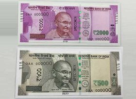 new 500 and 200 rupee note