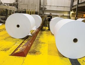 Domtar Hawesville rolls of paper