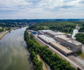 Fairmont, West Virginia recycled pulp mill