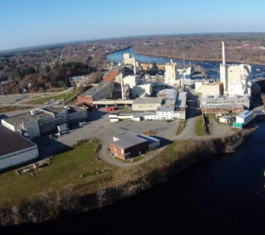 Old Town, Maine, pulp mill aerial