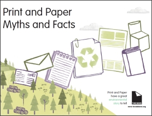 Print and Paper Myths and Facts booklet