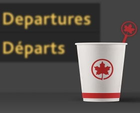 Air Canada stir stick