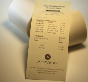 Appvion thermal POS paper