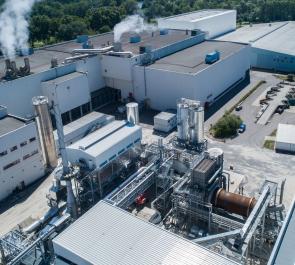 VPK power plant at Blue Paper mill in Strasburg