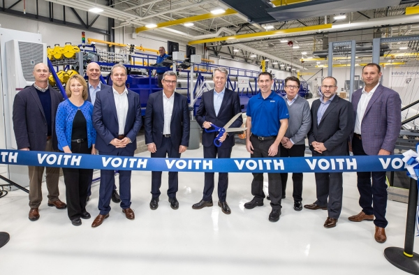 Voith Infinity Loom Ribbon Cutting