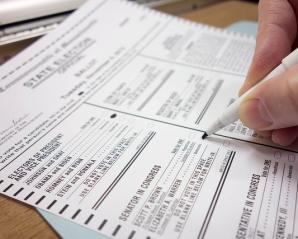 paper voting ballot