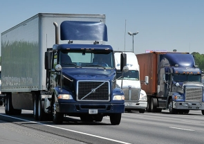 trucks hauling freight