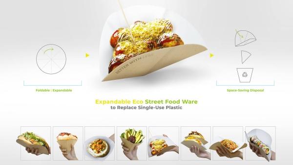 Expandable Eco Street Food Ware