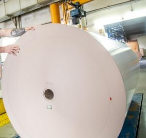 Trostberg mill paper roll