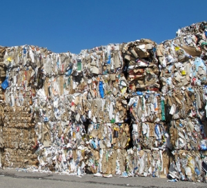 bales of recovered paper