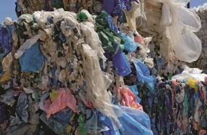 baled plastic bags