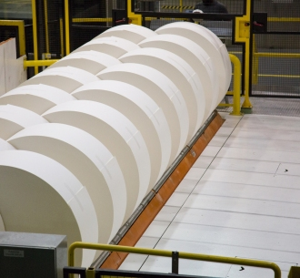 Domtar paper rolls