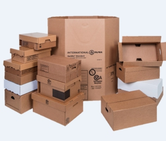 International Paper corrugated boxes
