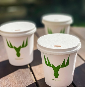Recyclable Paperboard Lid for Beverage Cups