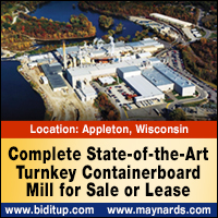 Complete state-of-the-art turnkey containerboard mill for sale or lease